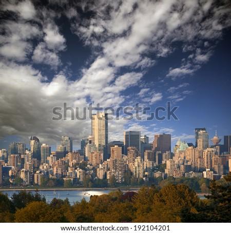 Vancouver Panoramic (July 2014), British Columbia, Canada - stock photo
