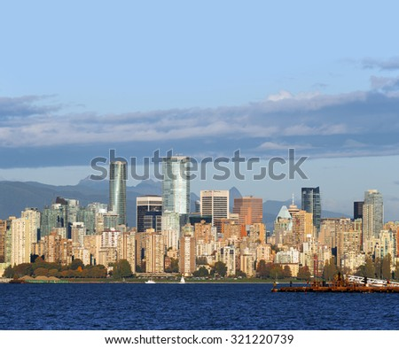 Vancouver panoramic, October 2015 - stock photo
