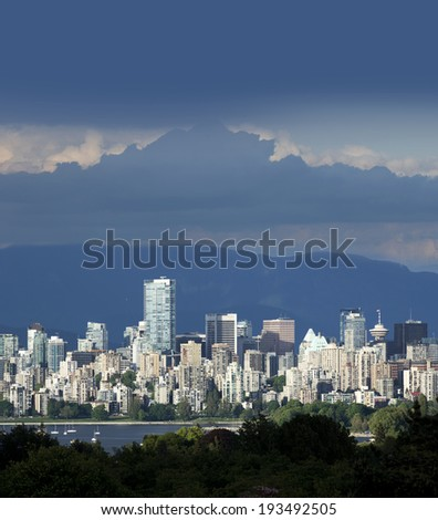 Vancouver, panoramic view