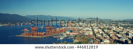 Vancouver rooftop view with urban architecture and city skyline - stock photo