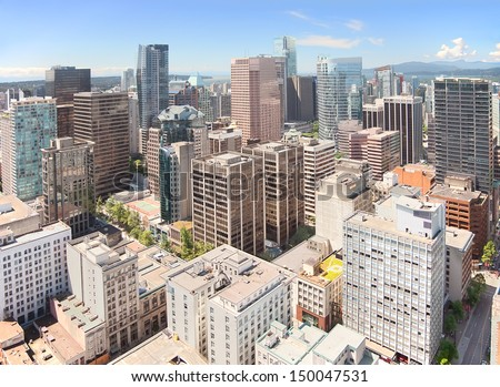 Vancouver's skyscrapers, British Columbia, Canada - stock photo
