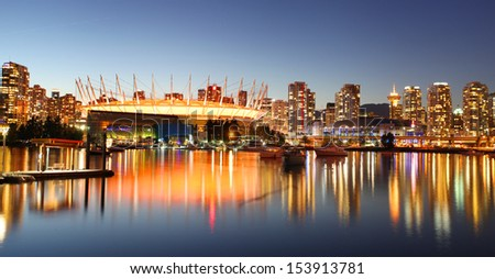 VANCOUVER - SEPTEMBER 8: Vancouver, Canada on September 8, 2013. Vancouver has been ranked the third most liveable city in the world for the second year in a row. - stock photo