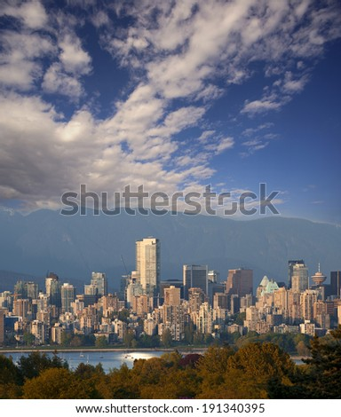 Vancouver Skyline with Shangri-La Hotel (photographed May 2014)  British Columbia, Canada