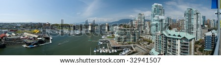 Vancouver Urban Panorama - stock photo
