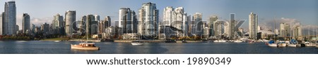 Vancouver Urban Waterfront Panorama - stock photo