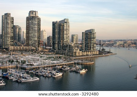 Vancouver view - stock photo