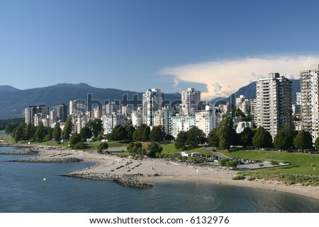 Vancouver West End - stock photo