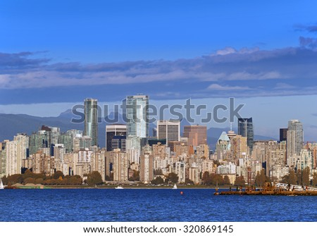Vancouver with new tower, September 2015, British Columbia, Canada - stock photo