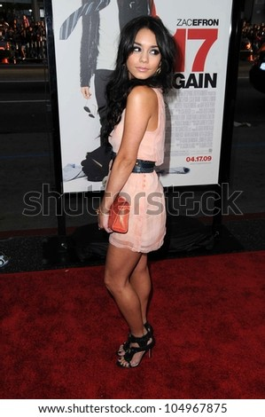 Vanessa Hudgens at the Los Angeles Premiere of '17 Again'. Grauman's Chinese Theatre, Hollywood, CA. 04-17-09