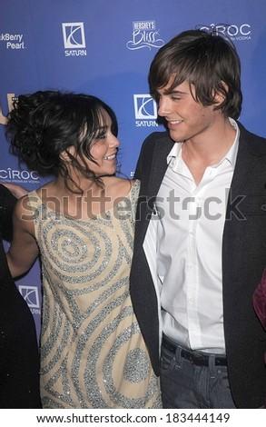 Vanessa Hudgens, Zac Efron at US WEEKLY Hot Hollywood Party, Skylight, New York, NY, October 21, 2008  - stock photo