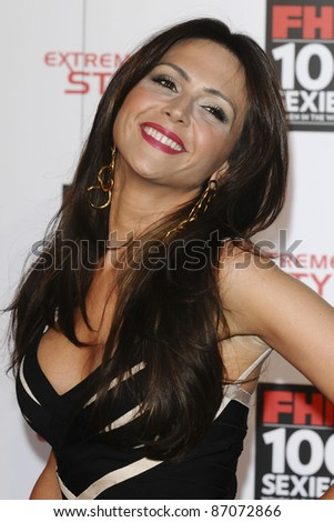 Vanessa Perroncel arrives for the FHM 100 Sexiest Women 2001 party at No.1 Marylebone, London. 04/05/2011  Picture by: Alexandra Glen / Featureflash
