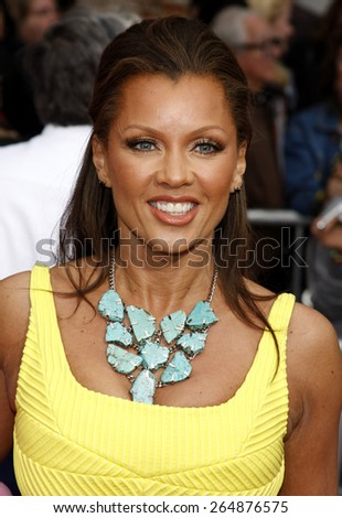 Vanessa Williams at the Los Angeles premiere of 'Hannah Montana The Movie' held at the El Capitan Theater in Hollywood on April 4, 2009.  - stock photo