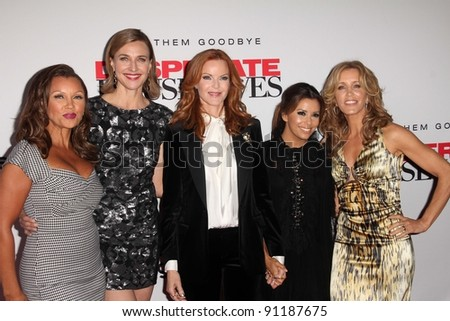"Vanessa Williams, Brenda Strong, Marcia Cross, Eva Longoria, Felicity Huffman at the ""Desperate Housewives"" Final Season Kick-Off Party, Universal Studios, Universal City, CA. 09-21-11"