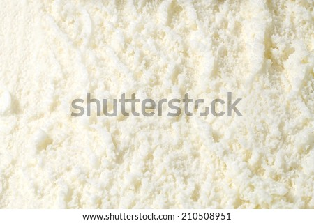 Vanilla ice cream detailed macro texture  - stock photo