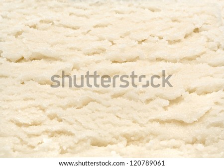 Vanilla ice cream macro detailed texture - stock photo