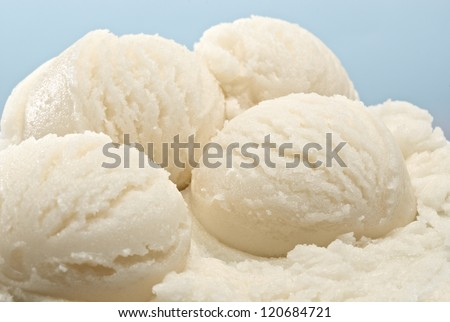 Vanilla ice cream scoops - stock photo