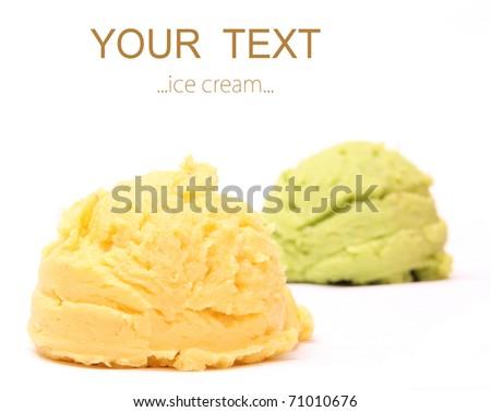 Vanilla ice cream scoops - stock photo