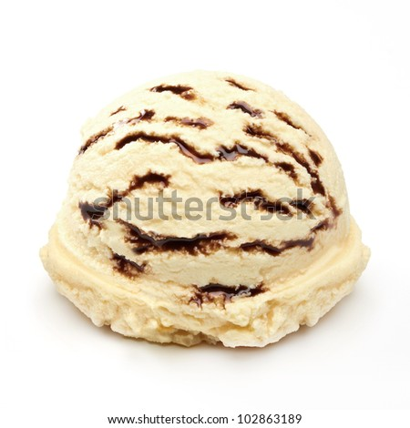 Vanilla ice cream with chocolate  - stock photo