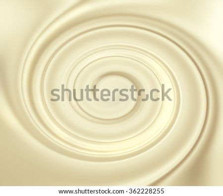Vanilla mousse texture. Cream swirl background. Yogurt ice cream background. Tasty liquid texture of milky smooth product. Sweet food silky texture. Yellow bright yogurth curl. Creamy dairy product.  - stock photo