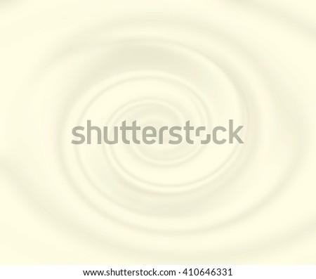 Vanilla yoghurt swirl in beige and yellow colors. Cream mousse texture. Yogurt ice cream background. Tasty liquid texture of milky smooth product. Sweet food silky texture. Yellow bright yogurth curl. - stock photo