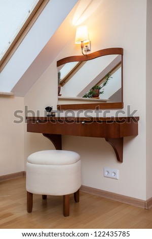 Vanity table for a woman in the house - stock photo