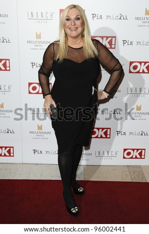 Vannessa Feltz arriving for the Pia Michi Prom wear fashion show at the Millenium Hotel, London. 15/02/2012 Picture by: Steve Vas / Featureflash