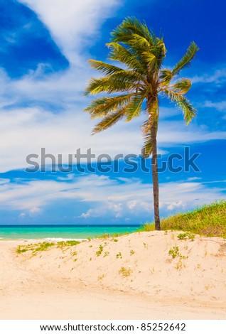 Varadero beach in Cuba - stock photo