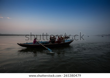 VARANASI,INDIA-March 17: Varanasi, also known as Benaras, is the oldest city in the world and the holy city of India. It is more than 3000 years old on march 17, 2015 in Varanasi, Uttar Pradesh, India