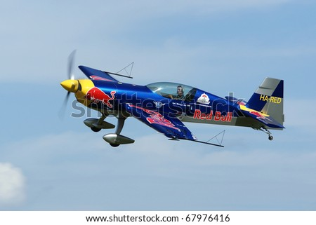 VARAZDIN, CROATIA - JUNE 12: Peter Besenyei from Hungary on the Varazdin airshow, Croatia, June 12, 2009