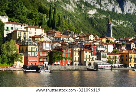 Varenna village, Como Lake, Italy, Europe - stock photo