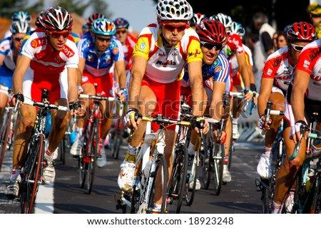 VARESE, ITALY - 28, SEPTEMBER 2008: Uci Road World Championships 2008 held in Varese from 22nd to 28th September. - stock photo