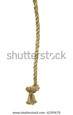 Variants of the rope with node on white background - stock photo