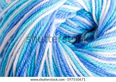 Varicolored balloon of soft yarn - stock photo