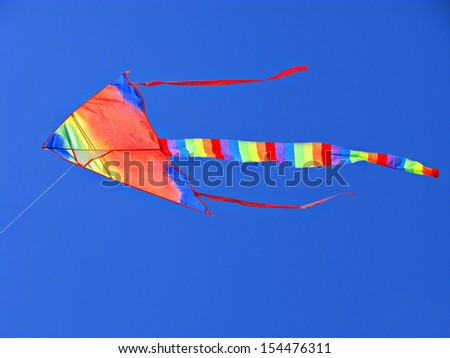 "Varicolored  ""kite"". Blue sky"