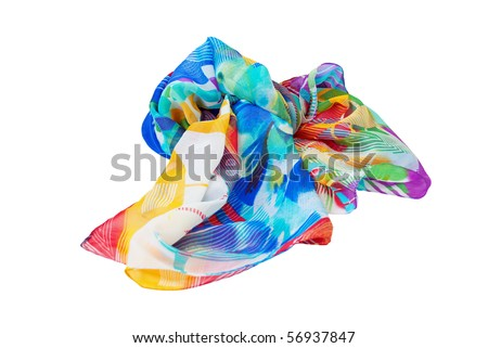 Variegated scarf isolated on a white background