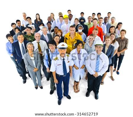 Variety Occupation Community Partnership Team Concept - stock photo