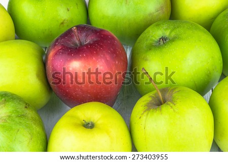 Variety of apples - background