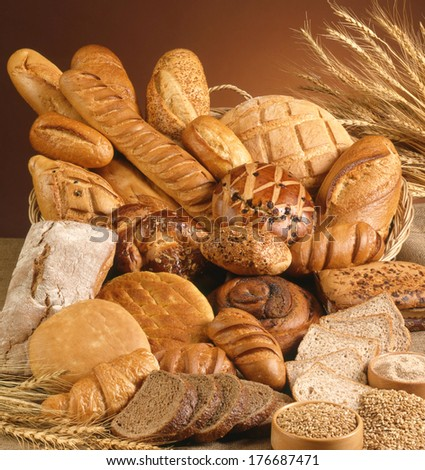 Variety of bread - stock photo
