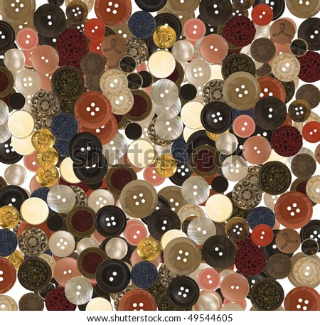 variety of buttons for a background or backdrop