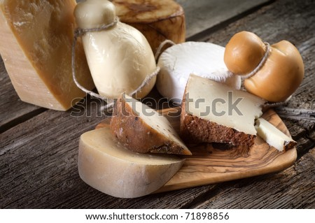 variety of cheese - stock photo