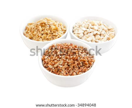 variety of chopped mixed nuts