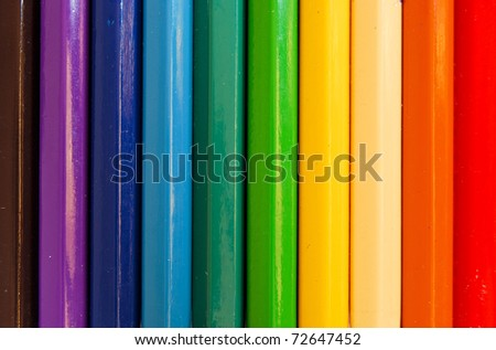 variety of color pencils closeup as a background