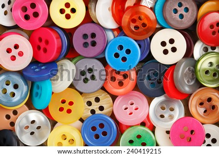variety of colorful sewing buttons - stock photo