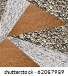 variety of crushed stone - stock photo