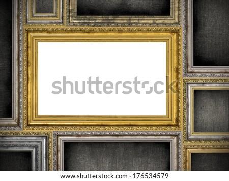 variety of frames over white background - stock photo