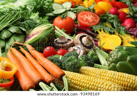 Variety of fresh vegetables - stock photo