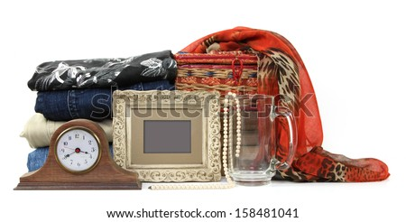 Variety of no longer used items for sale  - stock photo