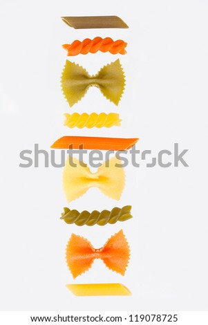 Variety of pasta - stock photo