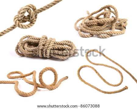 variety of rope - stock photo