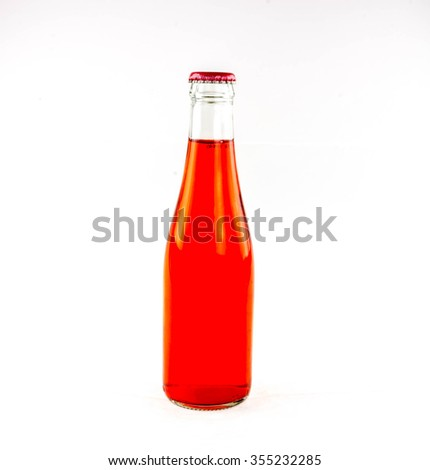 variety of soda bottle on a white background.